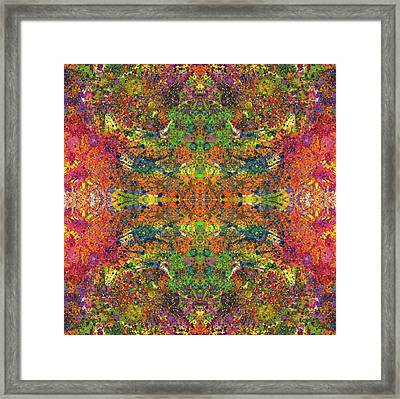 Altered States Of Consciousness #1544 Framed Print by Rainbow Artist Orlando L aka Kevin Orlando Lau