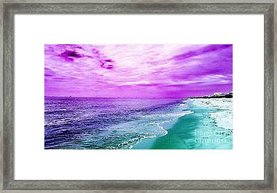 Alternate Beach Escape Framed Print