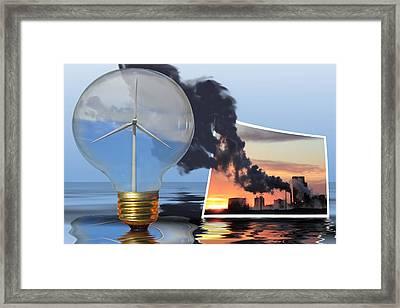 Alternative Energy Framed Print by Shane Bechler