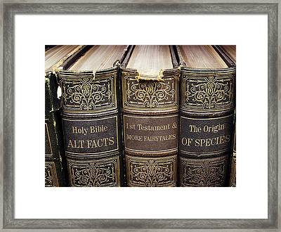 Alternative Facts Vs. Logical Truth... Or 'duh' Framed Print by Susan Maxwell Schmidt