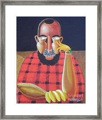Alternative Reality In A Still Life Le Penseur Framed Print