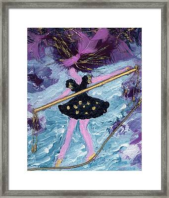 Althea Balances Her Life After Chemo Framed Print by Annette McElhiney