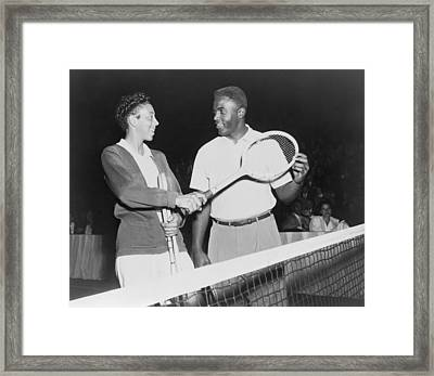 Althea Gibson 1927-2003 And Jackie Framed Print