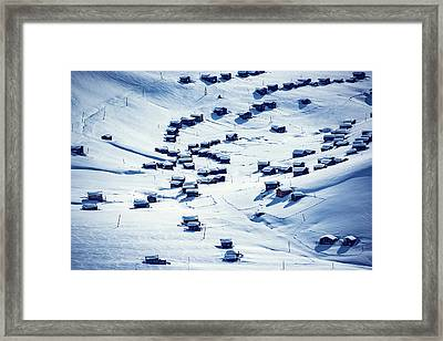 Altitude Village Framed Print