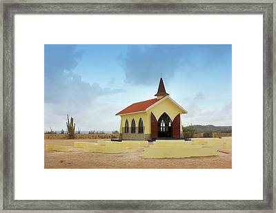 Alto Vista Chapel Of Aruba Framed Print