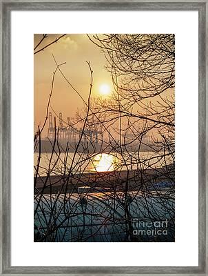 Altonaer Balkon Sunset Framed Print