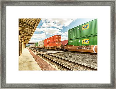 Altoona Rail Traffic Framed Print by Eclectic Art Photos
