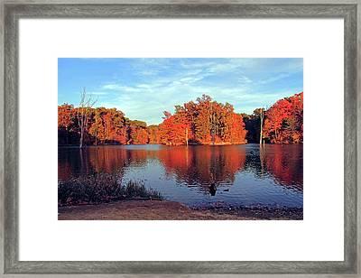Alum Creek Landscape Framed Print