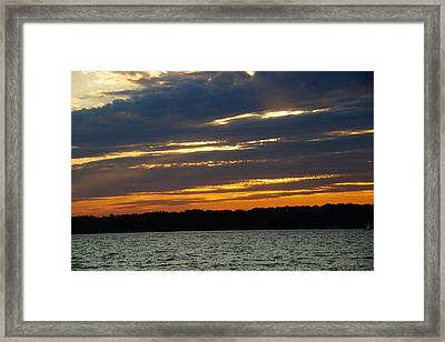Alum Creek Sunset Framed Print