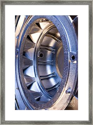 Aluminum Aircraft Component Framed Print
