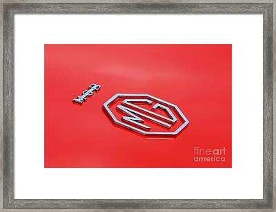 Framed Print featuring the photograph Aluminum Font by Stephen Mitchell