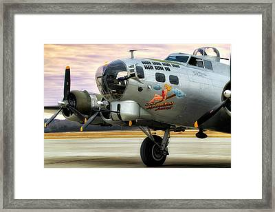 Framed Print featuring the photograph Aluminum Overcast - B-17 - World War II by Jason Politte