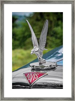 Alvis Car Mascot Framed Print by Adrian Evans