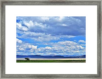 Sky Over Alvord Playa Framed Print by Michele Penner