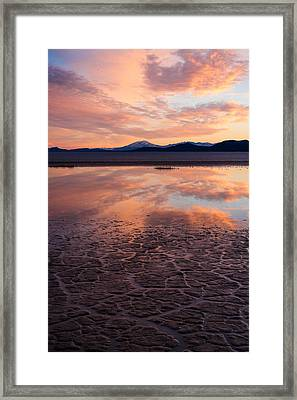 Framed Print featuring the photograph Alvord Sunset by Brian Bonham