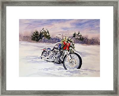 Always A Good Day For A Ride Framed Print by Vikki Bouffard