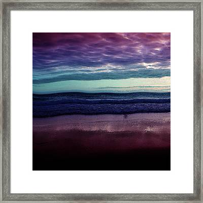 Always A Horizon Framed Print by Bonnie Bruno