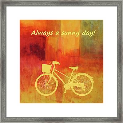 Always A Sunny Day Framed Print by Nancy Merkle