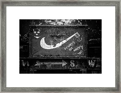 Always Be Happy Framed Print by Unsplash - Igor Ovsyannykov