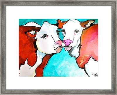 Always Kiss Me Goodnight Framed Print by Debi Starr