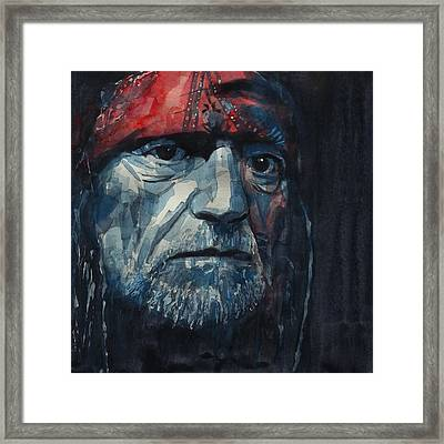 Framed Print featuring the painting Always On My Mind - Willie Nelson  by Paul Lovering