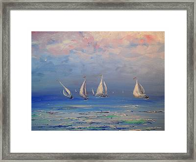 Always On The Shore Framed Print