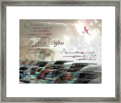 Always Remember - The Pentagon - Poetry Framed Print