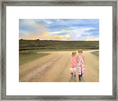 Always Sisters - Forever Friends Framed Print by Jean Scanlin Wright