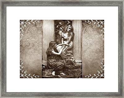 Framed Print featuring the digital art Always There by Mary Morawska