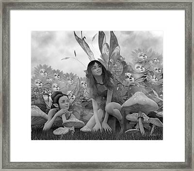 Always Watching Over You Bw Framed Print by Betsy Knapp