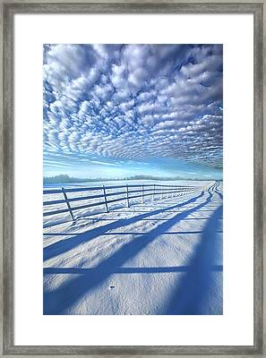 Framed Print featuring the photograph Always Whiter On The Other Side Of The Fence by Phil Koch