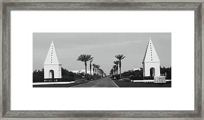 Alys Beach Entrance Framed Print