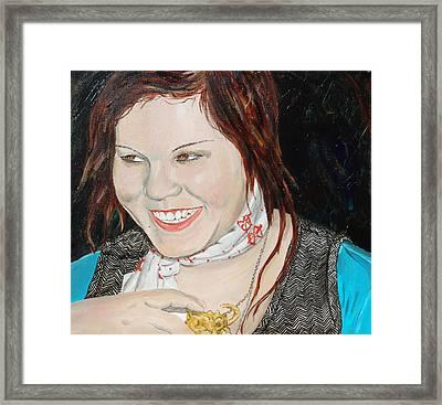 Alyssa Smiles Framed Print by Kevin Callahan