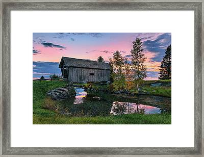 A.m. Foster Covered Bridge Framed Print by Thomas Schoeller