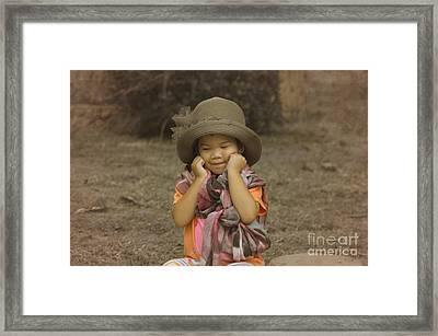 am I cute Framed Print