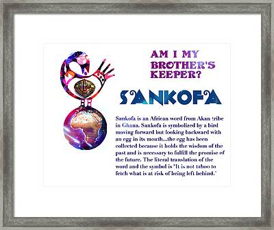 Am I My Brother's Keeper? Framed Print