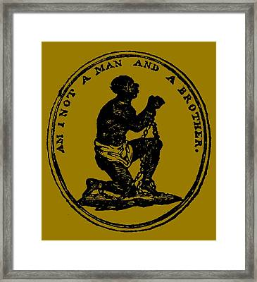 Am I Not A Man And A Brother Framed Print by Otis Porritt