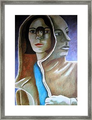 Am I The Child I Used To Be Or The Woman I Am Now Framed Print by Tanni Koens