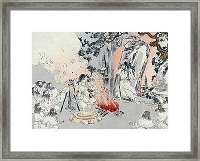 Ama-no-iwato, Cave Of Sun Goddess Framed Print by Science Source