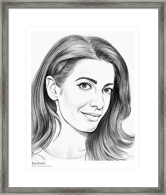 Amal Clooney Framed Print
