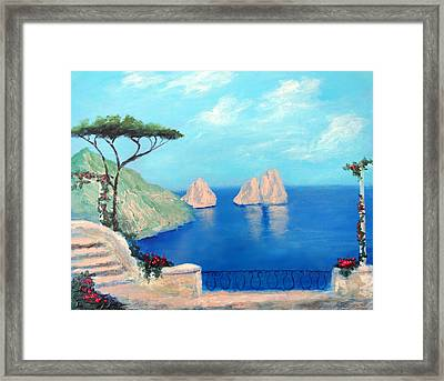 Amalfi  Beauty Framed Print by Larry Cirigliano