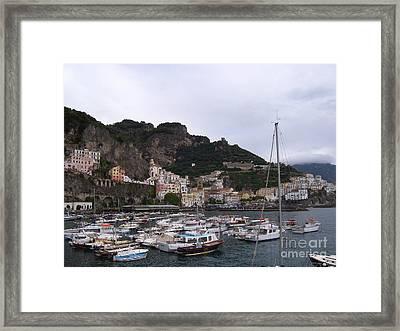 Amalfi Coast Framed Print by Judy Kirouac