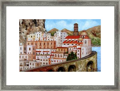 Amalfi Coast Framed Print by Leonardo Ruggieri
