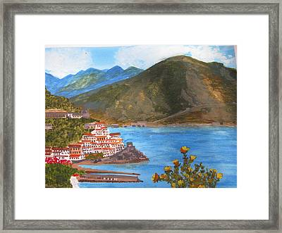Framed Print featuring the painting Amalfi Coast by Trilby Cole