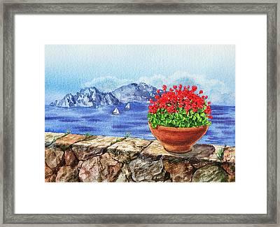 Amalfi Coast Vew Of Anacapri Framed Print