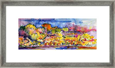 Amalfi Italy Coastline Travel Framed Print