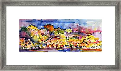 Amalfi Italy Coastline Travel Framed Print by Ginette Callaway