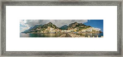 Framed Print featuring the photograph Amalfi by Steven Sparks