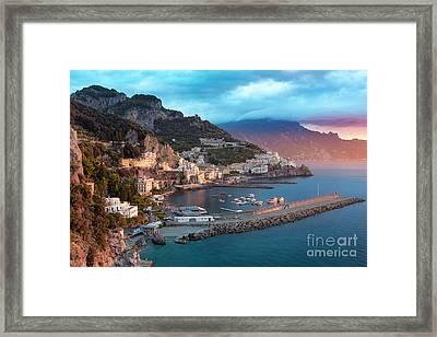 Amalfi Sunrise Framed Print by Brian Jannsen