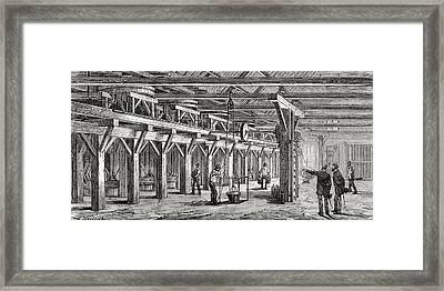 Amalgamation Mills Used To Extract Framed Print by Vintage Design Pics